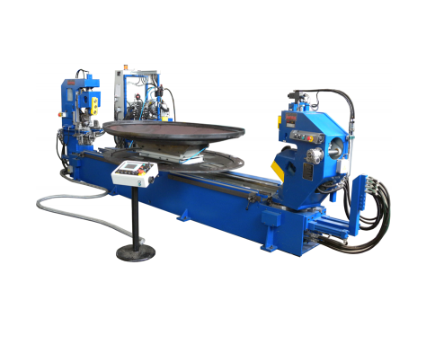 Double head shear and beading machines