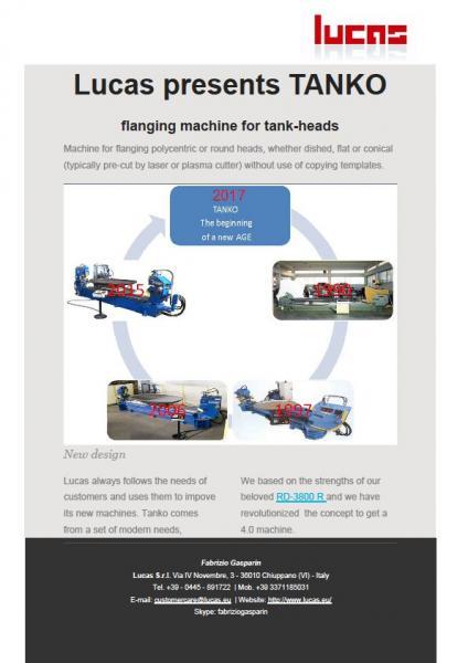 New flanging machine